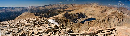 A panoramic view from the highest point in the continental United States.