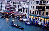 An evening gondola ride in Venice, Italy.