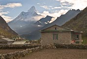 Stone homes, built to endure hard winters, are quite common in Khumjung.