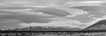 The high winds created amazing lenticular clouds in Patagonia.