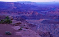 Dead Horse Point State Park is near Canyonlands National Park, Moab, Utah.