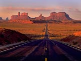 The road leading into Monument Valley was perhaps made most famous by Forrest Gump.